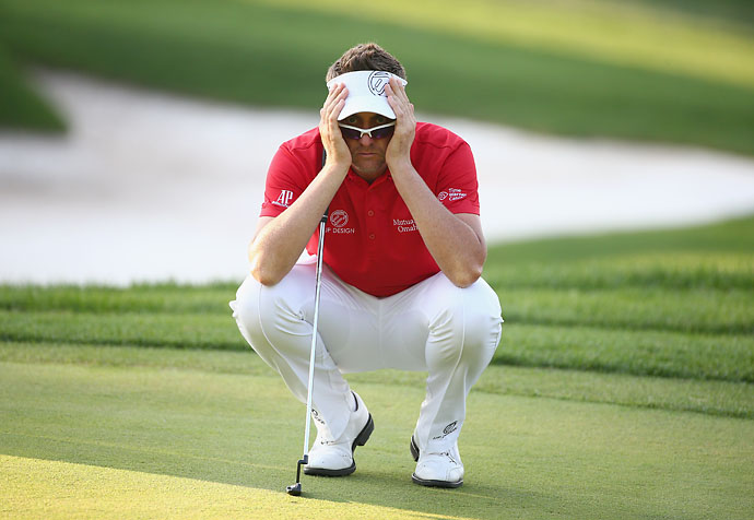 """""""I'll be angry for a good few days. But that's fine.  I'll keep myself in my own little room and have a little chat with myself and come out and win next week.""""                       Ian Poulter after missing a five-foot putt that would have forced a playoff with Turkish Airlines Open winner Brooks Koepka."""