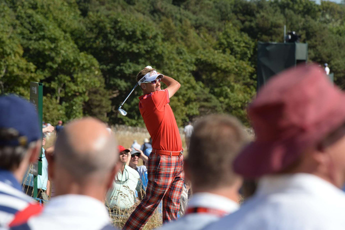 At one over par, Ian Poulter is in the hunt after an even-par 71.