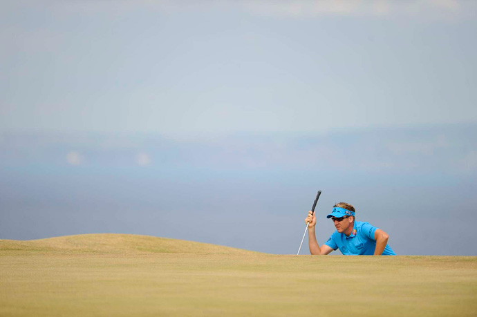 Ian Poulter bogeyed four of the last five holes for a 72.
