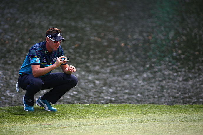 You'll probably see this Ian Poulter pic from the Par 3 Contest on Twitter Wednesday evening.