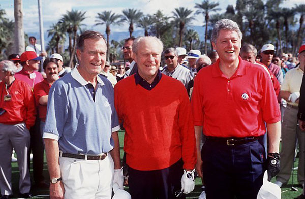Hope was also friends with several presidents, including George H.W. Bush, Gerald Ford and Bill Clinton.