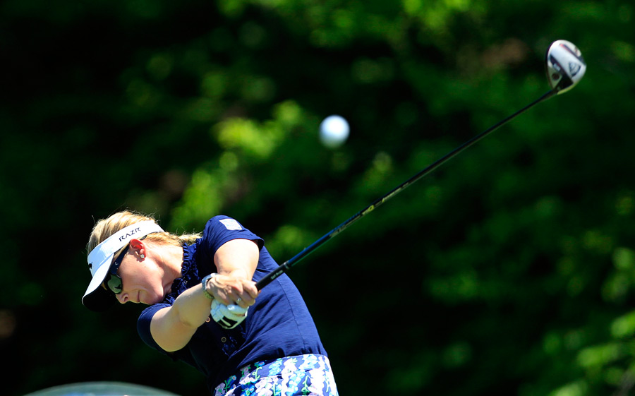 Morgan Pressel defeated Na Yeon Choi and Anna Nordqvist to reach the semifinals.