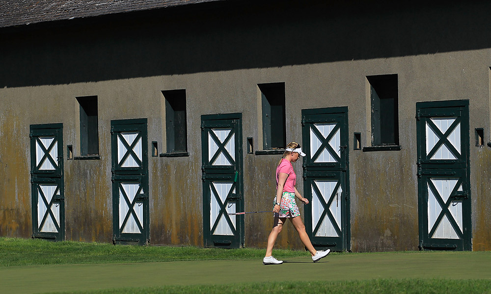 Morgan Pressel faced off against Azahara Munoz in the semifinals of the Sybase Match Play Championship. Pressel won the 13th hole, giving her a commanding 3-up lead with five holes to play. Or so she thought. Once the hole was finished, Pressel was penalized for slow play, which resulted in a loss of the hole. So, Pressel's was lead went from 3 up to 1 up in the blink of an eye. She was unable to recover and eventually lost the match.
