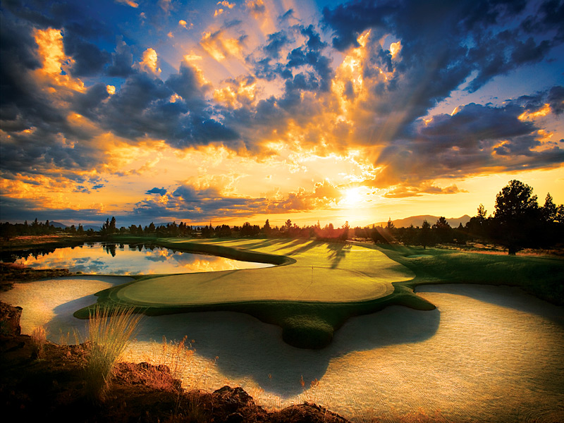 1. Pronghorn (Nicklaus), Bend, Ore.                           While its Fazio sibling remains private, this 2004 Jack Nicklaus creation alone is worth the journey, thanks to Bend's perfect arid summer climate on the sunny side of the Cascade Mountains, flawless conditions and holes—such as the par-4 13th—that boomerang around water. Its 151 slope from the 7,379-yard tips could intimidate a Tour pro, but the 3,200-foot elevation will help shorten the ride.