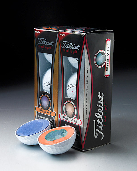 "$46 (per dozen),titleist.com                       IT'S FOR: Golfers of all skill levels and swing speeds who want short-game control.$46 (per dozen), titleist.com                       IT'S FOR: Golfers of all skill levels and swing speeds who want short-game control.                       SKINNY: The multilayer Pro V1 and Pro V1x dominated the ball landscape during the past decade. The new Pro V1 boasts similar launch characteristics to ""Pro V1 2009,"" spins slightly more throughout the bag and achieves similar distance and a more consistent, boring flight. It has a new core with uniform hardness, an ionomeric mantle (same material composition as Pro V1 2009) and urethane elastomer cover (same composition and thickness). The Pro V1x launches higher than Pro V1x 2009 and flies on a higher trajectory with the driver and long irons (shots peak farther downrange) for added distance. A new dimple pattern (with seven different dimple sizes) provides a more aerodynamic, consistent flight. The 4-piece ball—dual core (same material as Pro V1x 2009), mantle (same) and cover material (same with new aerodynamics)—has similar spin attributes, feel and short-game performance as its predecessor                                              • Titleist ball-fitting information"