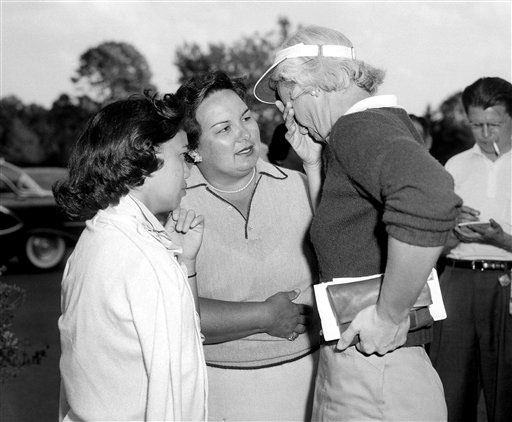 Proving that women can be just as unlucky -- or neglectful -- as men, the Hawaiian golfer apparently had won the tournament by one over Betsy Rawls at Winged Foot's East course. She embraced her 15-year-old daughter as the crowd saluted her. Her celebration was short-lived. Her playing partner, Betty Jameson, marked down a 5 for Pung's play on the 4th hole, when she actually made 6. By signing for a score lower than she actually made, she was disqualified.