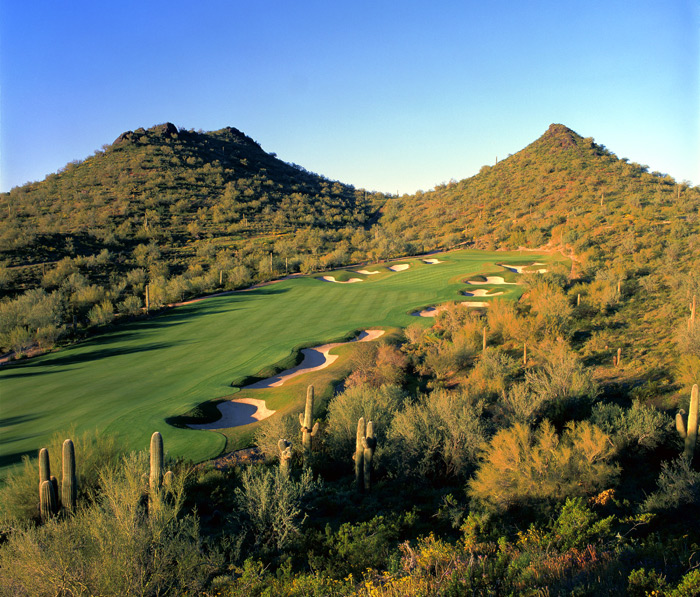 5. Quintero, Peoria, Ariz.                           Back in 2000 the economy was humming, so big things were expected when Rees Jones opened what was called the Founders course—with a Greg Norman layout to follow. The Norman 18 never appeared, and the real estate boom never reached northwest Phoenix, so last year this lush, topsy-turvy desert design—with its thrilling drop-shot par 3s—opened its doors.