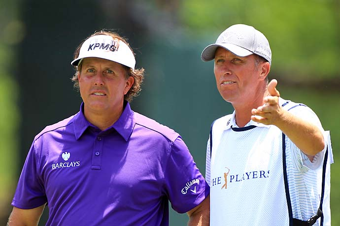 """Everybody gets bad breaks, but that's the worst break in Phil's career by a hundred miles. And it came on a Sunday in a major when he had a chance to win.""--Phil Mickelson's caddie Bones Mackay on Mickelson's unlucky bounce off a grandstand railing on the fourth hole Sunday at the 2012 Masters."