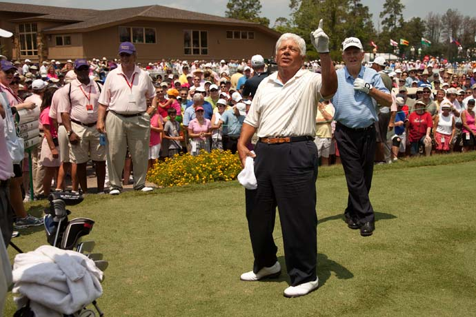 """If I knew they were going to use all those foul words in there. I never would have done it.""                           --Lee Trevino on his cameo in Happy Gilmore."