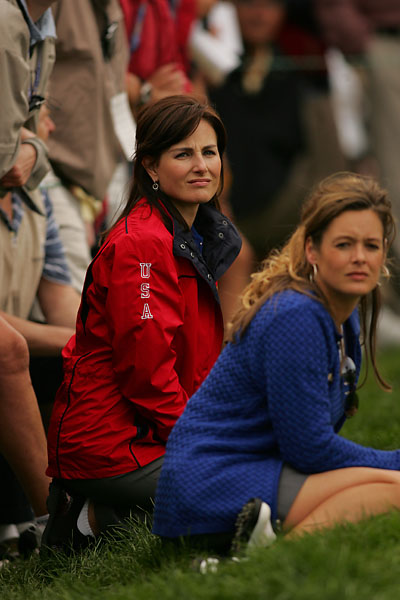 Sonya Toms and Tabitha Furyk during the second round of the 2004 Ryder Cup at Oakland Hills in Bloomfield Hills, Mich.