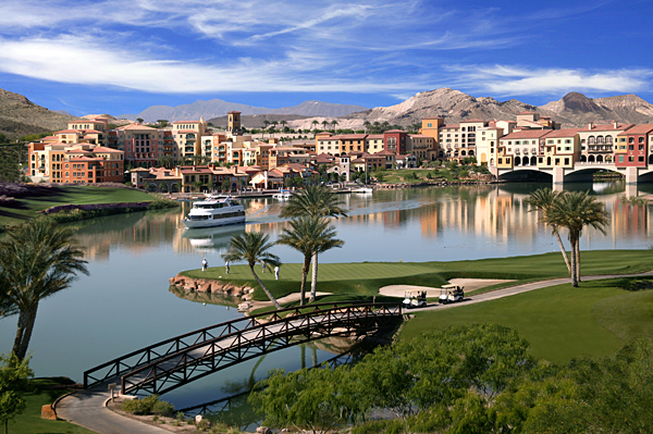 Las Vegas Golf Courses                       Before you visit Las Vegas, here's a preview of some of the golf courses Sin City has to offer.                       The Falls at Lake Las Vegas Resort                       Henderson                       $150-$275                       877-698-4653, lakelasvegas.com