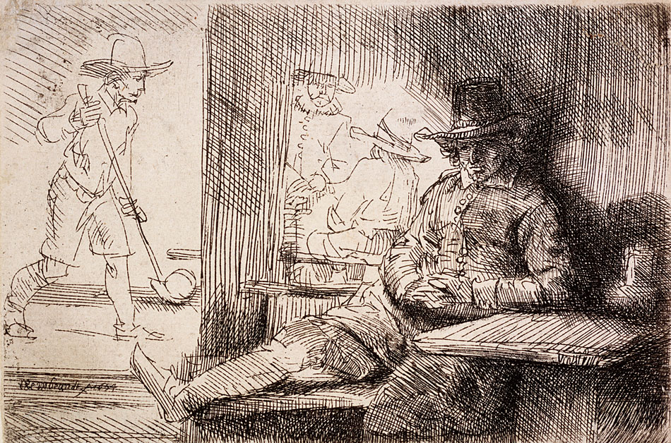 Rembrandt van Rijn (Dutch, 1606-1669)                           The Ringball Player                            1654                            Etching on paper