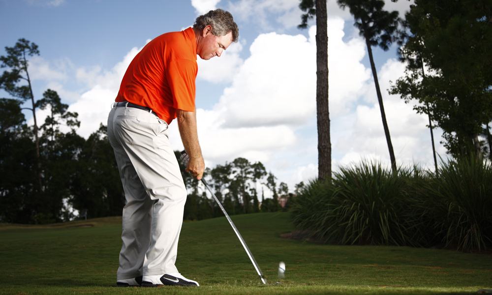 """To work hard on your short game in all areas: chipping, pitching, sand and putting. Your goal is to shave 2 shots off per round by getting the ball up and down more than you normally do. This means you will save one shot for every nine holes I play.""                           Brian Mogg, Golden Bear Golf Club at Keene's Point, Windermere, Fla.                           See Brian's tip to plant your right thigh for powerful drivers."