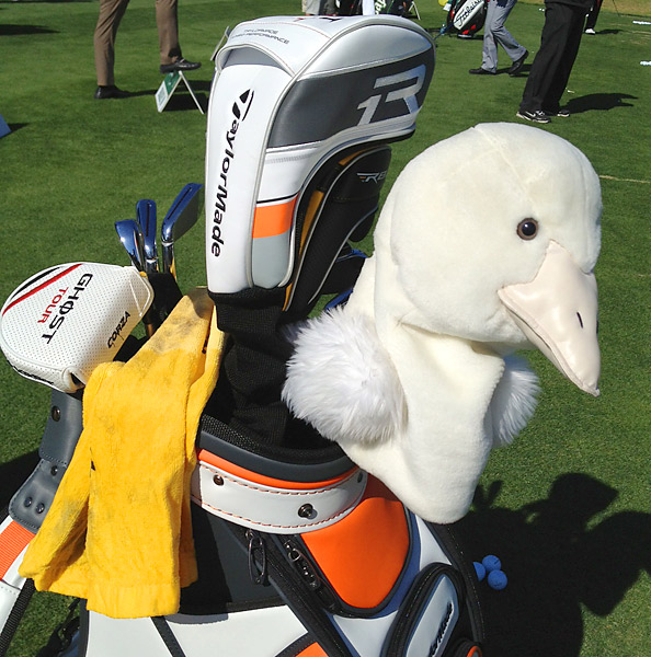Goosen also has a custom headcover this week. What is that thing?