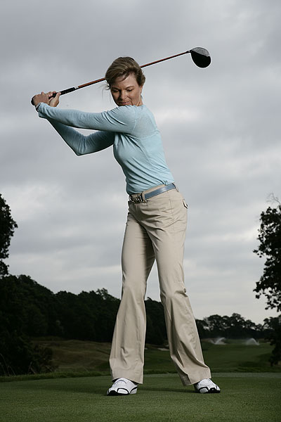 If your game has lost its punch, it's not too late to fight back. Top 100 Teacher Kellie Stenzel explains how.                                                       Driving                            If you've lost flexibility and consequently distance off the tee, try this...                                                       Flare your right foot at address, which will make turning easier and also allow your hips to rotate with your shoulders in the backswing. Also allow your hips to freely rotate in the backswing (don't worry about restricting them to create X-Factor). By doing so you'll keep the strain off your back and will still be able to get the club into a proper position at the top. You'll find it's a lot easier to turn through your swing and create ample clubhead speed without straining your body.