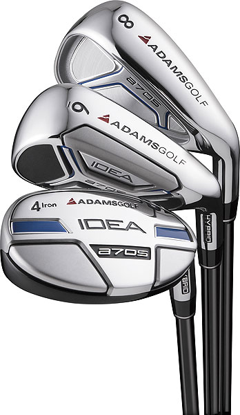 To reach more greens, try...                                                      The Adams a7OS Hybrid Irons The easiest way to gain trajectory and distance with your irons is to replace them with hybrids. Designed with Adams' patented gapping technology, this set is comprised of five hybrids and three game-improvement irons, all of which are available with Grafalloy's ProLaunch Axis graphite shafts in senior flex. $699/graphite shaft, adamsgolf.com