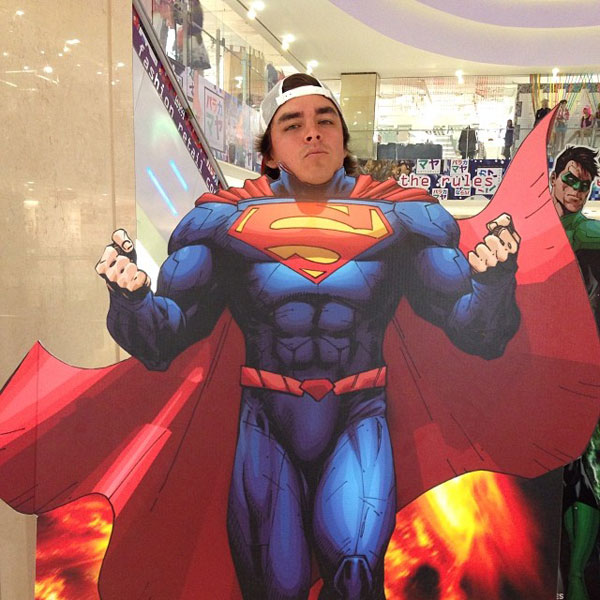 @therealrickiefowler:  Been hitting the gym a little lately #Superman