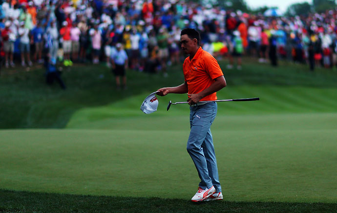 """I was okay with Rory and hitting up off the tee and checked with Phil prior to them doing that and he was okay that. But we had no intentions or didn't say anything or was going to allow them to hit their second shots into the green, so I'm not sure where the guys at the PGA got that idea.""                       --Rickie Fowler on the controversial end of the PGA Championship."