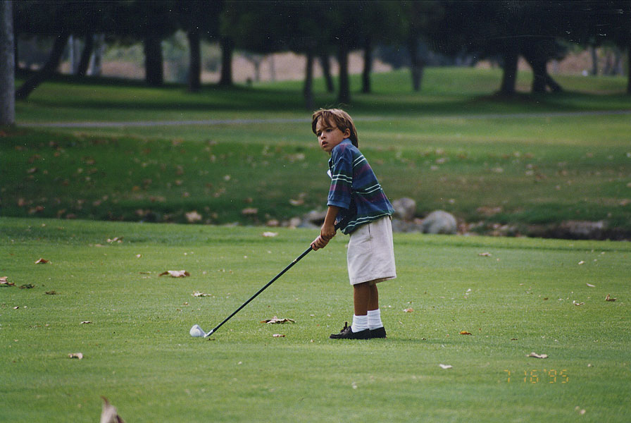 Even at a young age, Rickie Fowler was fashionable.