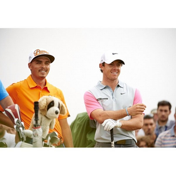 @therealrickiefowler Final pairing at The Open Championship with @rorymcilroyofficial...it was a grind at times but a good time!