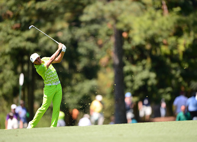 A colorfully adorned Rickie Fowler got around in 71, good for a T12, three back of the lead.