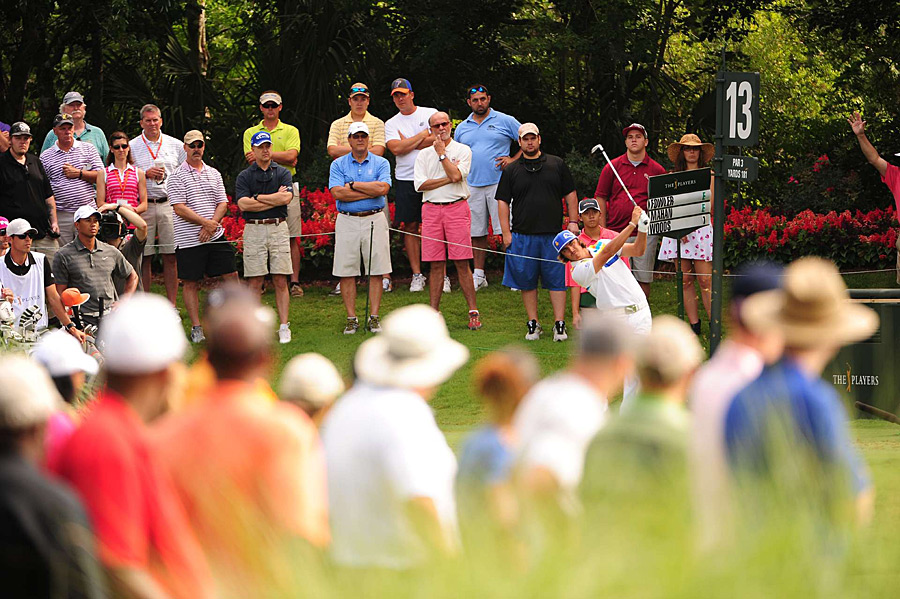 Rickie Fowler, last week's winner at Quail Hollow, made four birdies and four bogeys.