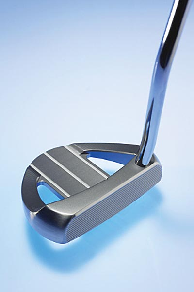 """Rife Barbados$179; rifeputters.com                                                       The company line """"Barbados has a pleasing shape wrapped around a three-line center cavity with mass at the outer edges. These features combine with RollGroove technology to deliver stability, softer feel and a strong alignment system.""""                                                      Pros: """"You can almost feel the face grooves grab and control the ball.""""                           ---Michael Kaye (handicap 14)                           """"So easy to line up, which gives you confidence on cash-in putts.""""                           --Tom Ierubino (8)                           """"It wants to swing straight back and through. Pure feel is like hitting a forged iron on the button.""""                           --Michael Jo (11)                           """"Feels like spreading butter on a warm dinner roll.""""                           --Mike Cochrane (1)                           """"Sight lines help to see stroke back and through as it is in motion.""""                           --Andy Simon (25)                                                      Cons: """"I would've preferred more feedback on offcenter hits. Impact is almost too soft compared to the others.""""                           --Rich Bernstein (13)"""