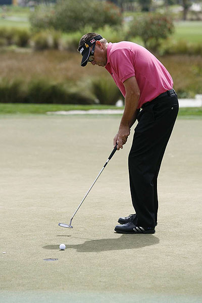 Robert Allenby shot an even par 70 Sunday to finish five strokes off the lead.