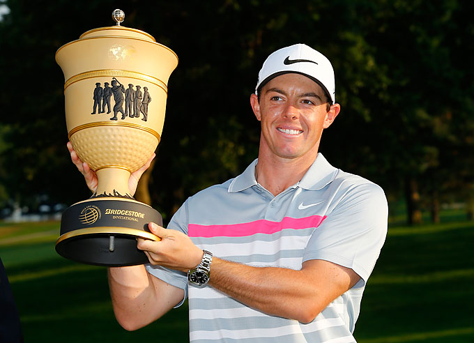 Two weeks after the British Open, McIlroy won the WGC-Bridgestone Invitational.