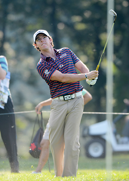 Newly-minted PGA champion Rory McIlroy got some reps in on Wednesday as well.