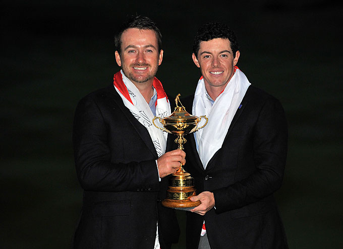 McIlroy and fellow Northern Irishman Graeme McDowell didn't play together during the Ryder Cup, but they put to rest any rumors of discord between the pair as a lawsuit against Horizon Sports, McIlroy's former management agency, has also involved McDowell in the proceedings.