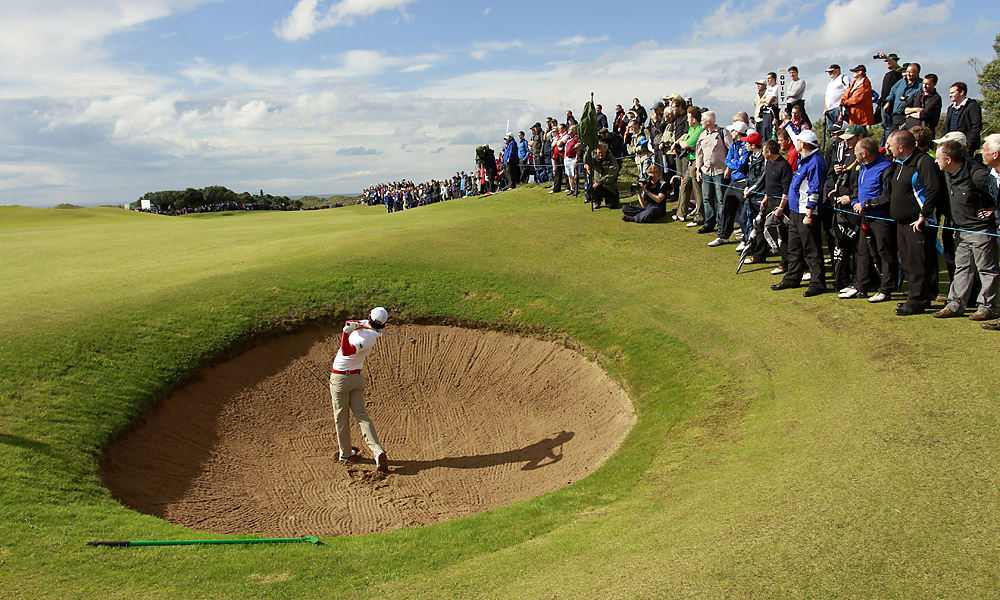 On Thursday, Rory McIlroy, who grew up outside of Portrush, shot a two-under 70 in the first round of the Irish Open.