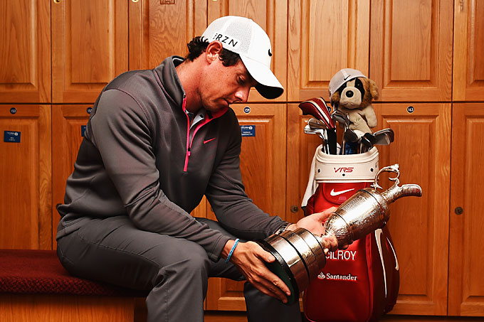 This iconic shot of McIlroy looking at his name on the Claret Jug went viral after the tournament. McIlroy became the third-youngest player to get three legs of the career grand slam behind Jack Nicklaus and Tiger Woods.