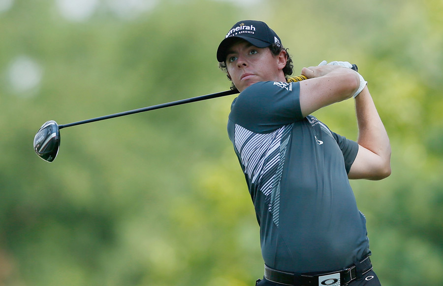 Rory McIlroy made four birdies and two bogeys for a two-under 69.