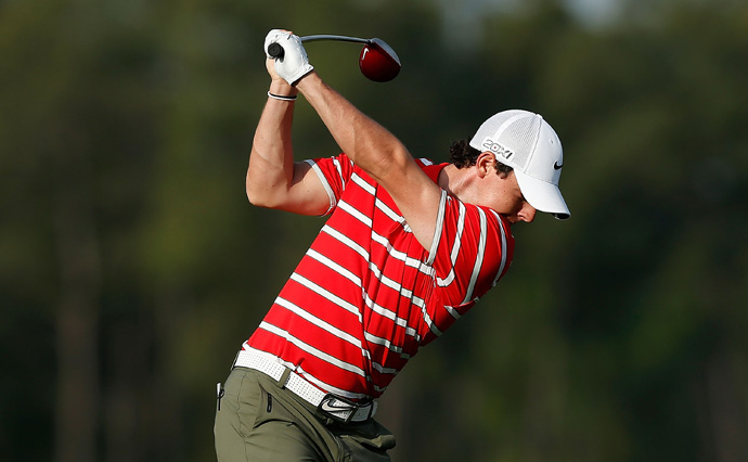 Rory McIlroy got off to a hot start, but he bogeyed three of the last six holes for a 71.