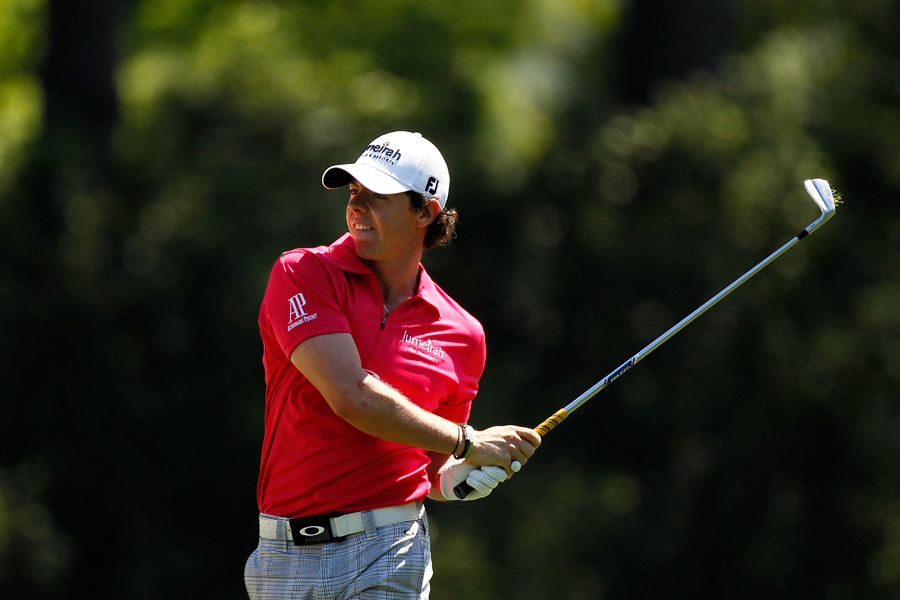 Rory McIlroy started the third round one shot off the lead, but he went 77-76 on the weekend.