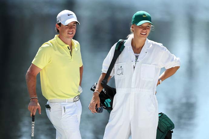 """My goodness. No wonder you haven't been playing well lately!""                       --Gary Player to Rory McIlroy after meeting McIlroy's girlfriend Caroline Wozniacki at the Masters Par 3 Contest."