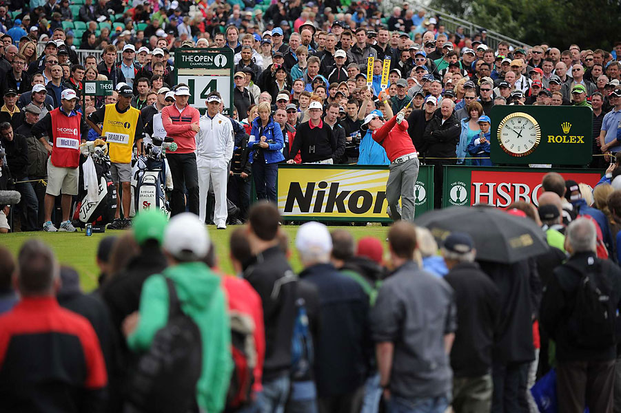 McIlroy at the 14th tee on Friday. He made the cut but never contended.
