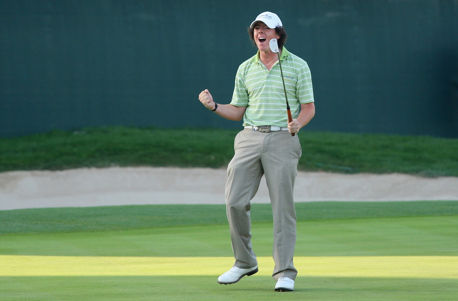McIlroy turned pro in September 2007, and he quickly earned his European Tour card. In February 2009, he won his first professional title at the Dubai Desert Classic.
