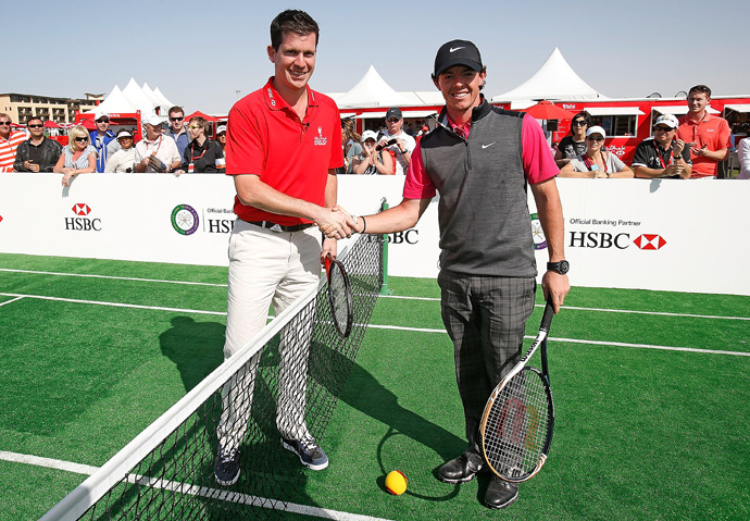 McIlroy also played a little tennis with Tim Henman.