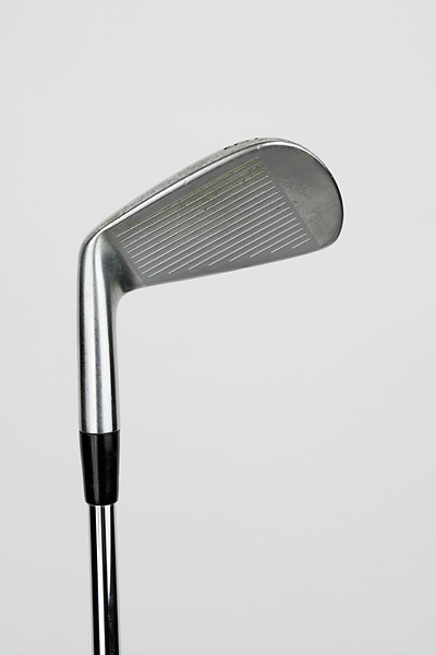 "Nike VR Pro Blade Iron With Project X Steel Shaft: ""I can hit the ball high or low with the VR Pros. They're very versatile. They have quite a thin sole so they get through the turf quickly, which I like."""
