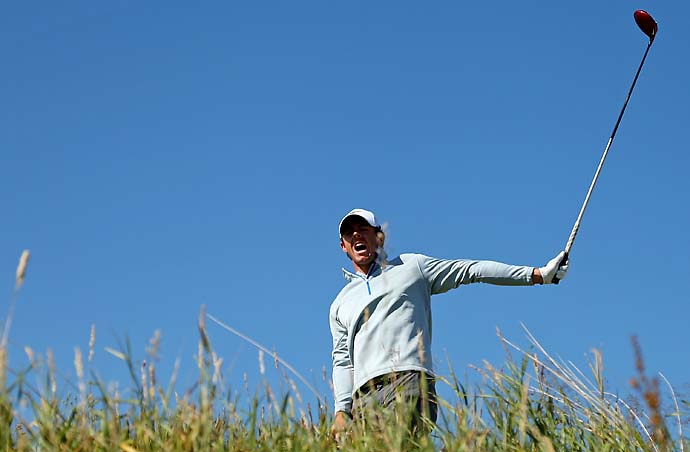 """Yeah, that's another Friday out of the way, thank God.                            --Rory McIlroy on shooting 78 on Friday after setting the Royal Aberdeen course record with a 64 on Thursday. At the 2010 British Open, McIlroy tied the course record at St. Andrews with a 63 on Thursday and then shot 80 in bad weather on Friday."