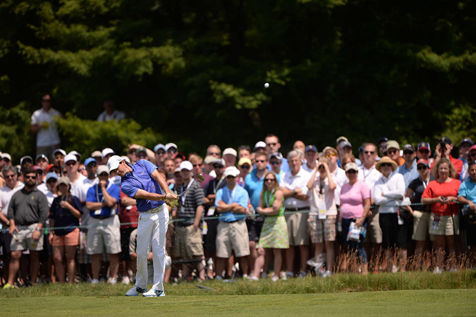 Rory McIlroy also opened with a birdie, but then he made seven bogeys and a birdie coming in for a 75.