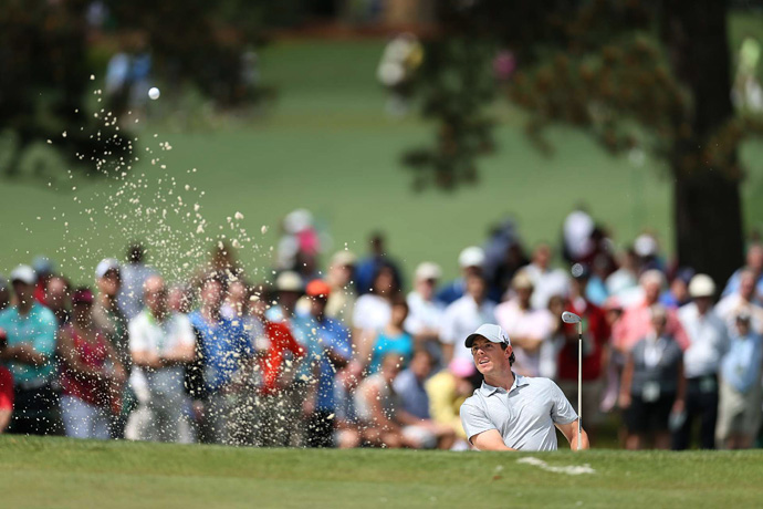 McIlroy struggled early, but he rebounded with an eagle on No. 8.