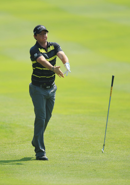 Rory McIlroy drew plenty of criticism after he threw a club during the first round.