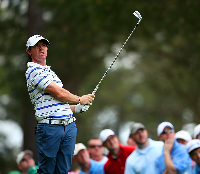 Rory McIlroy was also on the course Monday.