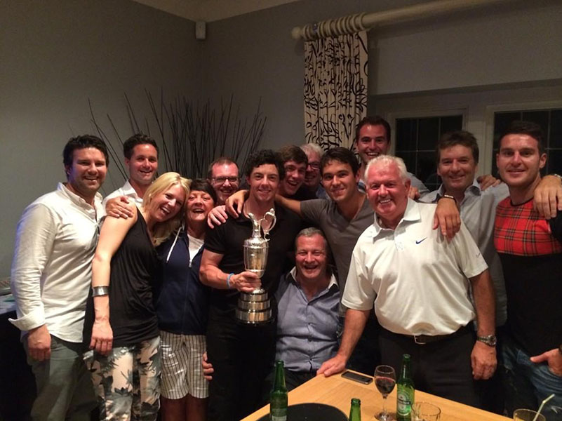 @McIlroyRory Celebrating with the Claret Jug!! Thanks for all the support and well wishes this week! #TheOpen #3outof4