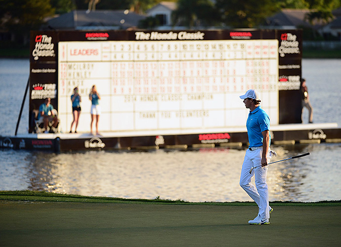It was crowded atop the leaderboard on Sunday, as McIlroy couldn't maintain his two-shot cushion.