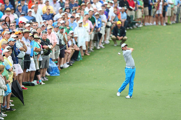 Rory McIlroy moved back into contention after a two-under 70.