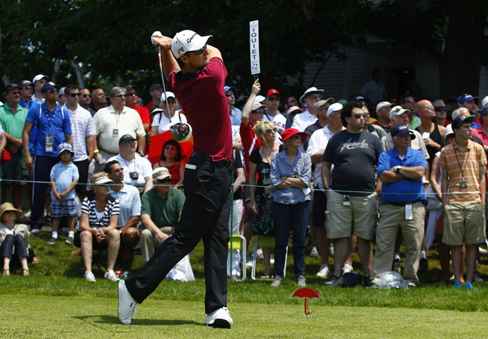 U.S. Open champion Justin Rose returned to action Thursday with a three-under 67.